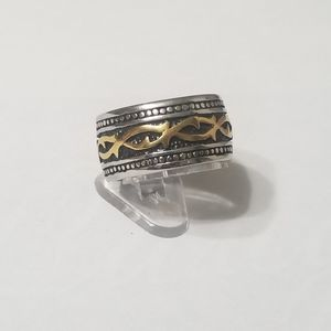 New stainless steel wide mens ring size 11